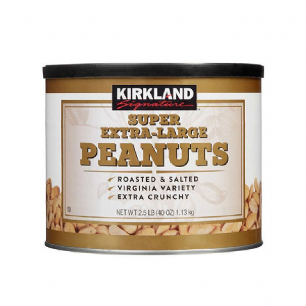Kirkland Signature Super Extra-Large Peanuts Roast & Salted Net WT 1.13Kg